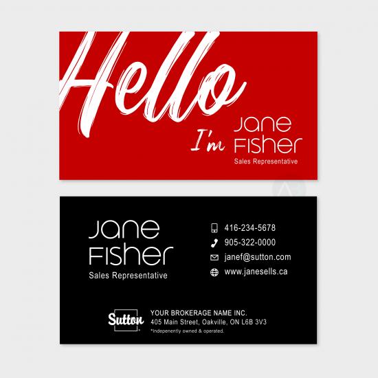 Jane Business Card (choose colour)