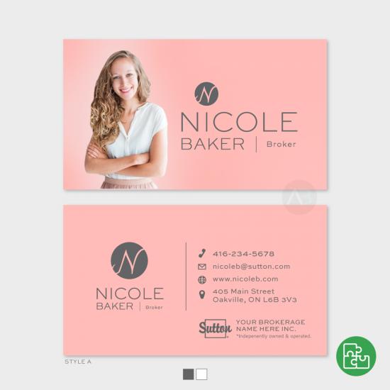 Nicole Business Card [choose colours]