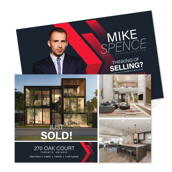 """Mike """"Just Listed"""" or """"Sold"""" Postcard"""