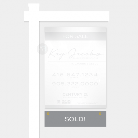 Sold Sign Rider - Kay Template