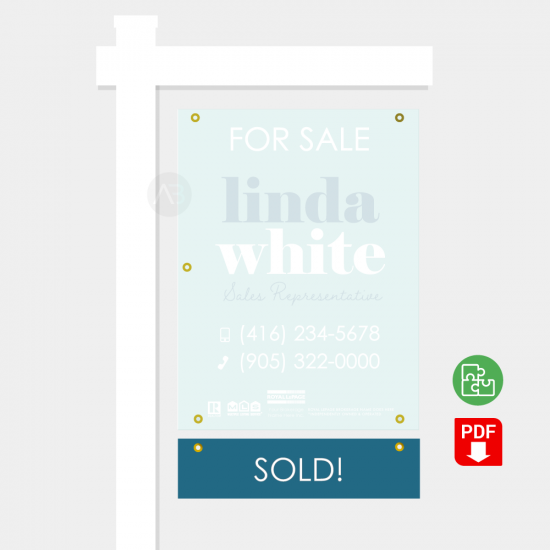 Sold Sign Rider - Linda Template